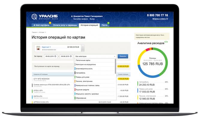 Интернет банк Уралсиб для юридических лиц